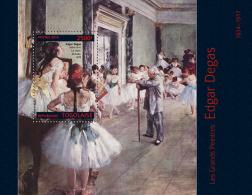Tg14307b Togo 2014 Painting Edgar Degas S/s - Impressionisme