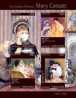 Tg14308a Togo 2014 Painting Mary Cassatt S/s - Impressionisme