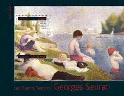 Tg14309b Togo 2014 Painting Georges Seurat S/s Dog - Impressionisme