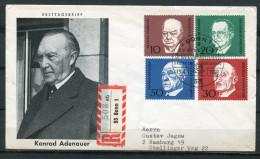 "Reco First Day Cover Germany 1968  Mi.Block Nr.554/57 Erstagsbrief""1.Todestag Von Konrad Adenauer,Bundeskan "" 1 FDC Bef. - Celebrità"