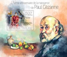 Tg14118b Togo 2014 Painting Paul Cezanne S/s Fruit - Impressionisme