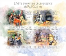 Tg14118a Togo 2014 Painting Paul Cezanne S/s - Impressionisme