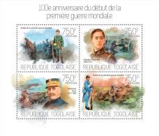 tg14122a Togo 2014 World War I WW1 s/s