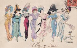 Illustrateur X SAGER,  Femmes Enlacées, ,  Circulée, BG 514 - Sager, Xavier