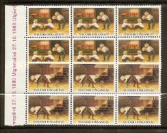 1980 Finlandia Finland NATALE  CHRISTMAS 6 Serie Di 2v. (838/39) MNH** - Finlandia