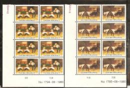 1980 Finlandia Finland NATALE  CHRISTMAS 8 Serie Di 2v. (838/39) In Blocco MNH** - Finlandia