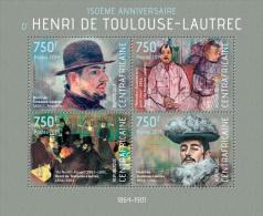 Ca14119a Central African 2014 Painting Henri De Toulouse-Lautrec S/s - Impressionisme