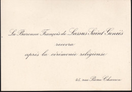 La Baronne Francois De Lassus Saint-Geniès - Autographes