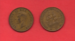 SOUTH AFRICA, 1945  Circulated Coin, 1 Penny, George VI, Km 25, C1427 - South Africa