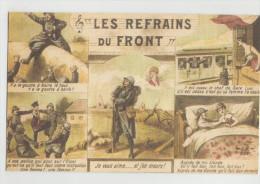 CPA Allégorie - Les Refrains Du Front - Guerre 1914-18 - En Excellent état - 1914-18