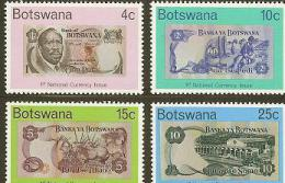 BOTSWANA 1976 MNH Stamp(s) Pula Banknotes 151-154 # 5028 - Coins