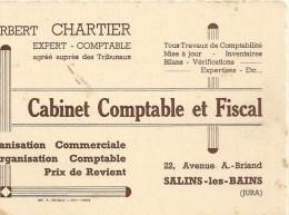 --CABINET COMPTABLE ET FISCAL Norbert CHARTIER--22 AVENUE A.BRIAND--SALINS-LES-BAINS--JURA--TACHES DE ROUILLE-- - Cartes De Visite