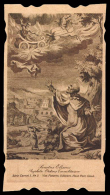 """Sant´ Eliseo Con Il Profeta Elia Che Viene Rapito In Cielo - (Belgio - Primo Novecento) - """"Riproduzione"""" - Santini"""