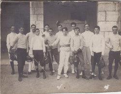 Photographie - Lyc�e de Nice 06 - 16 Mai 1909 - Sports Escrime Ep�e - Ecole Gar�ons
