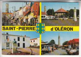 COMMERCE : RUES PIETONNES Et MARCHE - ST PIERRE D'OLERON 17 - CPSM CPM 1985 - Charente Maritime - Trade