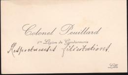 Colonel Peuillard - 1ere Légion De Gendarmerie - Autographes