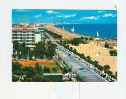 RICCIONE,lungomare E Spiaggia-1962-BENZINA ESSO-Auto-CAR-!!!!!!!!!!!!! - Rimini