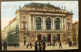 MONTPELLIER  (34) L'opera Comedie. Carte Animée (pli) - Montpellier