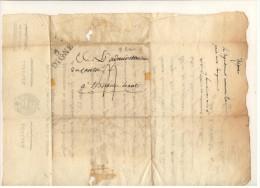 Lettre Des Administrateurs Du Département Des B. Alpes à L'administration Du Canton - Griffe DIGNE - 9 Brumaire An 6 - Marcofilia (sobres)
