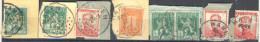 3Rv539: Restje Van 8 Zegels Op Fragment(zonder Tab) U.P.L. HAEREN... Om Verder Uit Te Zoeken.. - Lochung