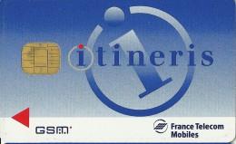 CARTE A PUCE TEST DEMO SIM GSM AUTRE  ITINERIS GSM FRANCE TELECOM  MOBILES - France