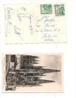 $3-3914 Spagna Lognogno 1953 Stamps Card To Italy Burgos - 1850-68 Regno: Isabella II