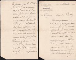 Général Louis Ernest Decharme - - Autographes