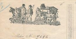 BELGIQUE - Document Financier Via Poste Belge 1913 - Illustration CHEVAL Et VACHE Union Des Cultivateurs à BXL -- VV442 - Hoftiere