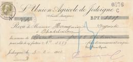 BELGIQUE - Document Financier Via Poste Belge 1912 - Entete Union Agricole De JODOIGNE  -- VV443 - Agriculture