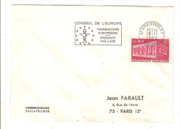 FRANCE - ENVELOPPE ENTIERE - TIMBRE EUROPA 1969 - CACHET CONSEIL DE L'EUROPE PHARMACOPEE PHARMACIE - Covers & Documents