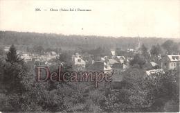 76 -Clères (seine Inférieure) - Panorama  - Dos Vierge - 2 Scans - Clères