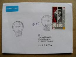 Cover Sent From Czech Rep. To Lithuania 2013 Frank Kafka - Czech Republic