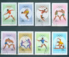 Rumänien - Mi-Nr. 2697 - 2704 Olympische Sommerspiele, Mexiko-Stadt Gestempelt - Zomer 1968: Mexico-City