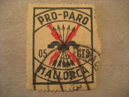 MALLORCA Pro Paro FALANGE Baleares Balears Poster Stamp Label Vignette Viñeta España Guerra Civil War Spai - Vignette Della Guerra Civile