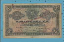 MOZAMBIQUE - 5 LIBRAS ESTERLINAS - ND (15.09.1919 ) - Pick R21 - PAGO 5.11.1942 - BANCO DA BEIRA - COMPANHIA - PORTUGAL - Mozambique
