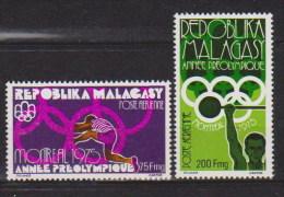 Madagascar  PA N°  158 Et 159   Neufs  **  (année Préolympique) - Madagascar (1960-...)