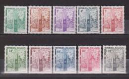 Madagascar  Taxe  N° 41 à 50  Neufs  **  ( Stele De L'Independance) - Madagascar (1960-...)