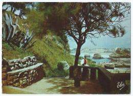 N1018 - BIARRITZ (64) - Vue Vers Le Port Des Pêcheurs Et La Grande Plage - Animée - Circulée 1963 - Scan Recto-verso - Biarritz