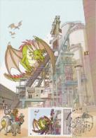Bande Dessinée  *** Festival De BD CONTERN - DRAGON ** Timbre Personnalisé LUXEMBOURG Sur Carte Maximum 2012 - Fumetti