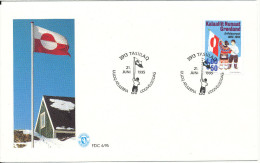 Greenland FDC 21-6-1995 Flag 10 Years Anniversary With Cachet - FDC