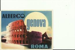 HOTEL LABEL   ---  ROMA  ---  ALBERGO GENOVA - Hotelaufkleber