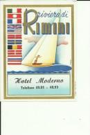 HOTEL LABEL   ---  RIMINI   ---  HOTEL MODERNO - Hotelaufkleber