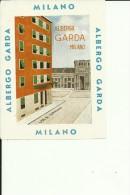 HOTEL LABEL   ---   MILANO  --  ALBERGO GARDA - Hotelaufkleber