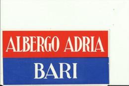 HOTEL LABEL   ---   BARI, ITALIA    --  ALBERGO ADRIA - Hotelaufkleber