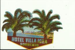 HOTEL LABEL   ---   SORRENTO,  ITALIA    --   HOTEL VILLA IGEA - Hotelaufkleber