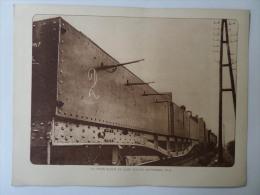 """Ancien Illustration """"Train Blindé En Gare D'Alost Septembre 1914"""" Aalst Oude Prent 1914-1918 Old Picture  Voir Details - 1914-18"""