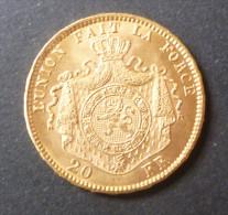 Belgique - 20 Francs L�opold II - 1876 (Gold, Or, Goud)