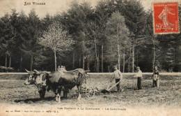 LES VOSGES TRAVAUX A A LA CAMPAGNE LE LABOURAGE METIER AGRICULTURE - Frankreich