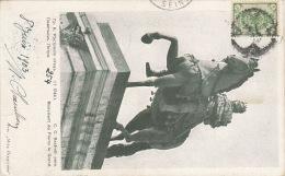 Russia Red Cross St. Jevegenia Charity Card St. Petersburg Peter Monument, Sent 1903 SPB To France (l284) - Rusland