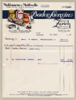 RN ZÜRICH 27-7-1927 Bader & Laengin Stahlspaene & Stahlwolle - Suisse